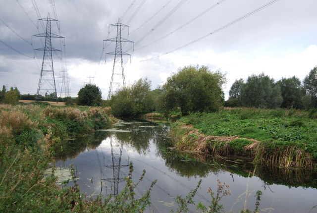 Pylons above the River Gipping