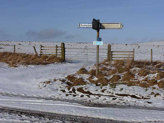 Signpost on the Reivers Route