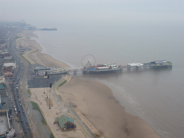 Blackpool: Central Pier from the Tower
