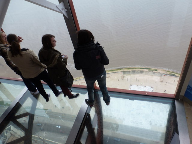 Blackpool: on the glass floor of the Tower