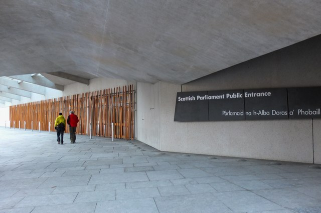 Entrance area, Scottish Parliament Building