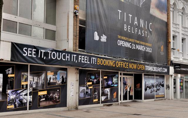"""Titanic"" advertising, Belfast"