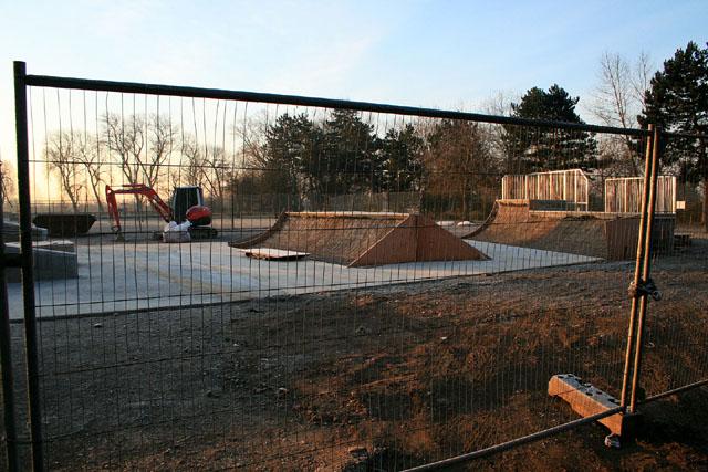 New skateboard park
