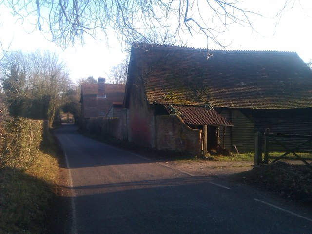 Old farm buildings in Blundell Lane