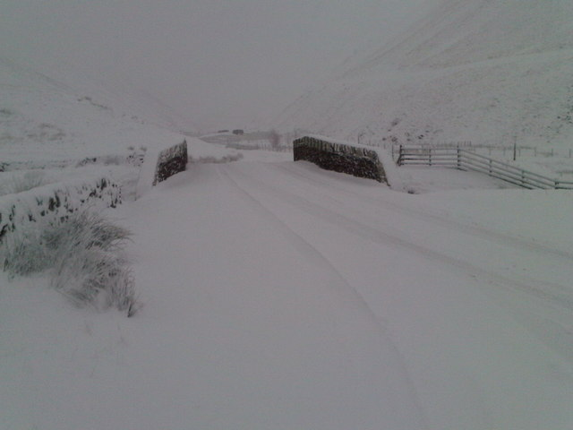 Tailburn Bridge on the A708 Moffat to Selkirk road