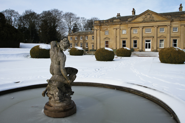 Formal Gardens with Statue, Wortley Hall