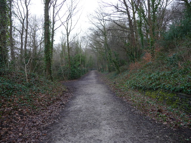 On the trackbed of the former Holywell Railway