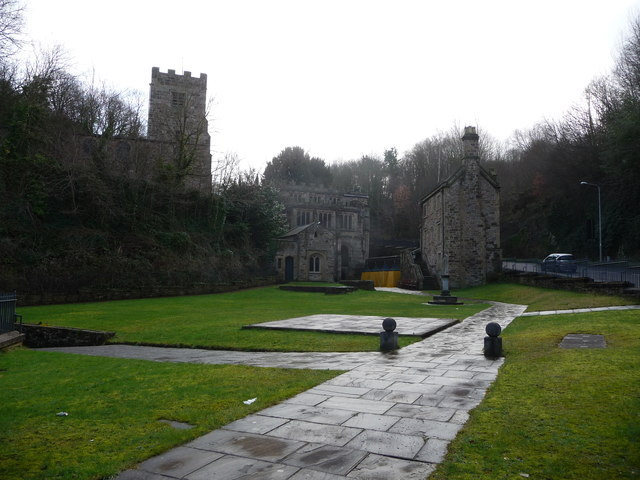 Part of St. Winefride's Well and Chapel buildings