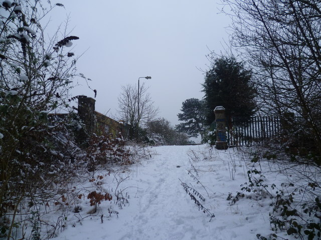 Southland Road, Plumstead in the snow