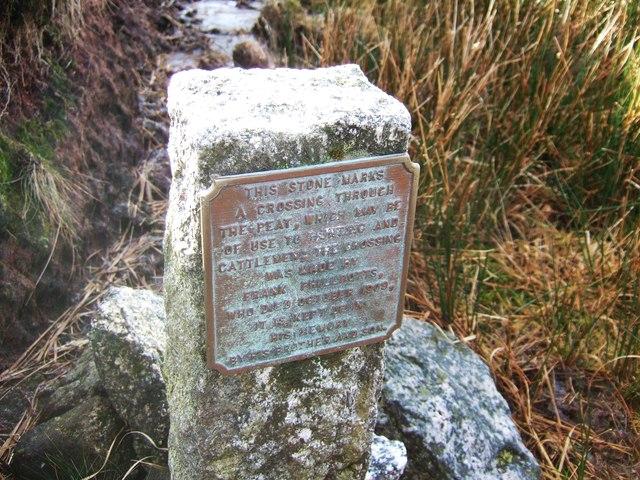 Black Ridge Peat Pass plaque