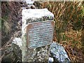 SX5985 : Black Ridge Peat Pass plaque by Derek Harper