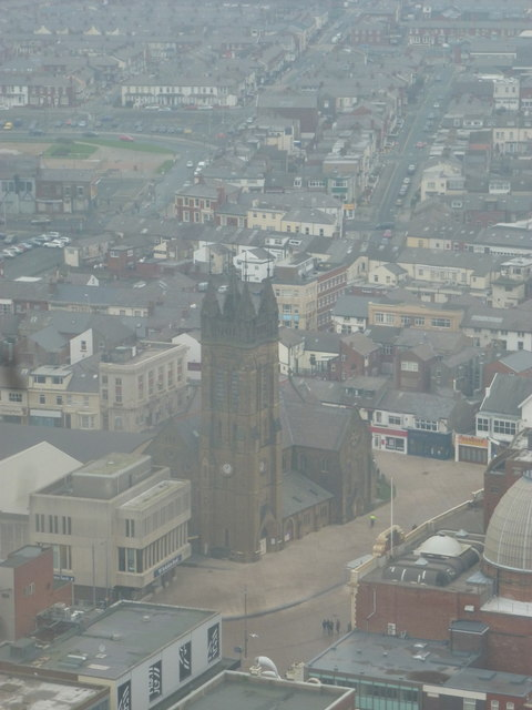 Blackpool: St. John's church from the Tower