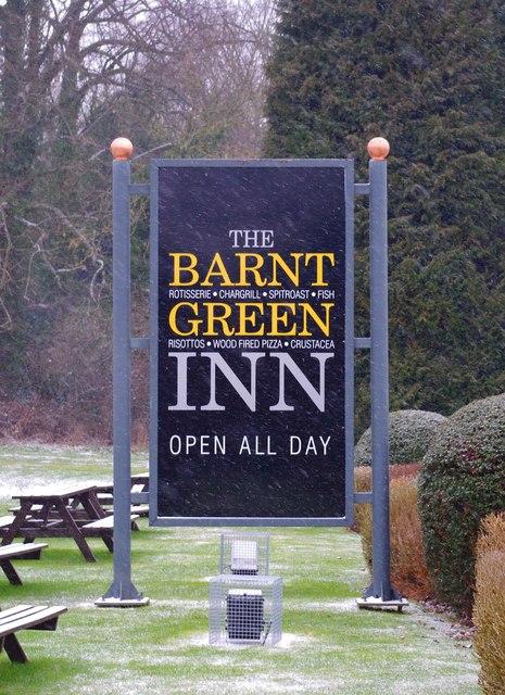 The Barnt Green Inn (2) - sign, 22 Kendal End Road, Barnt Green