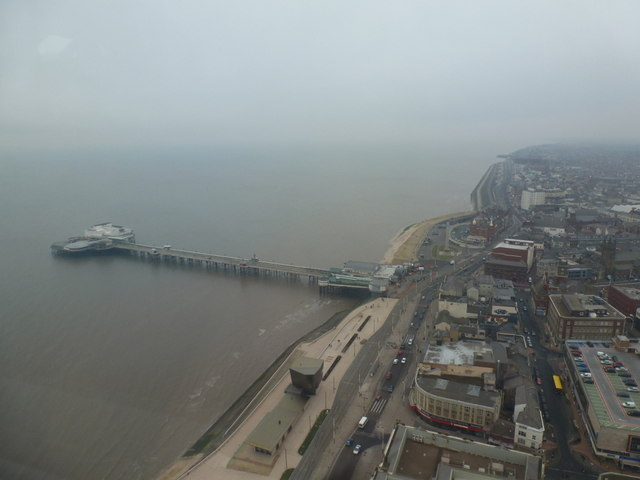 Blackpool: looking down on the North Pier