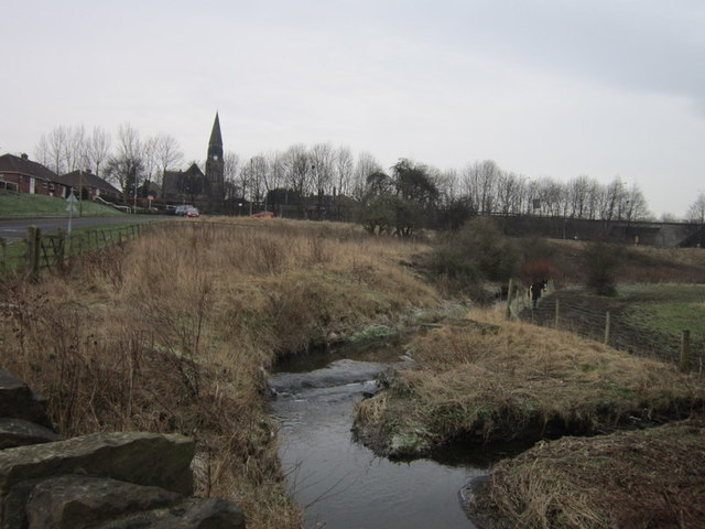 High Royds Beck joins Low Moor Beck