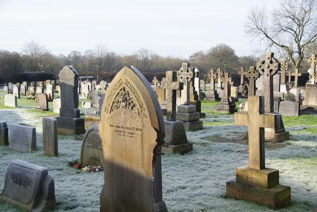 The graveyard of St Leonard's, Balderstone