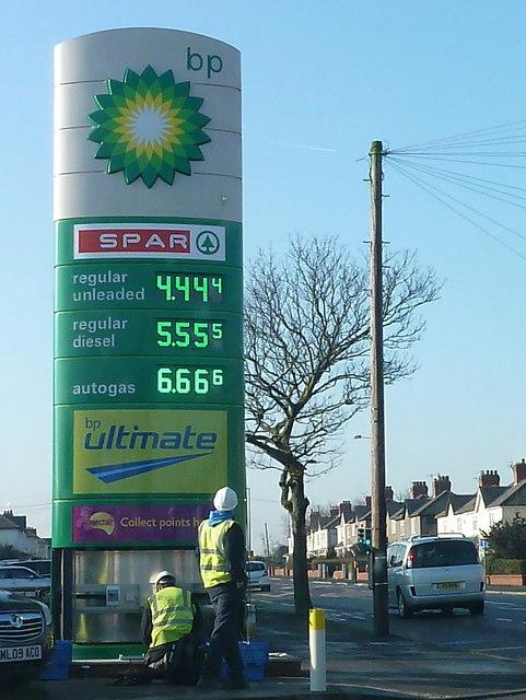 Lytham: wayward petrol prices