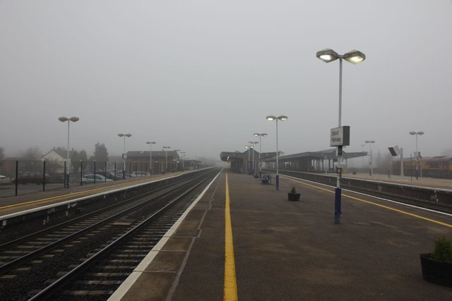 Wider  view of the station