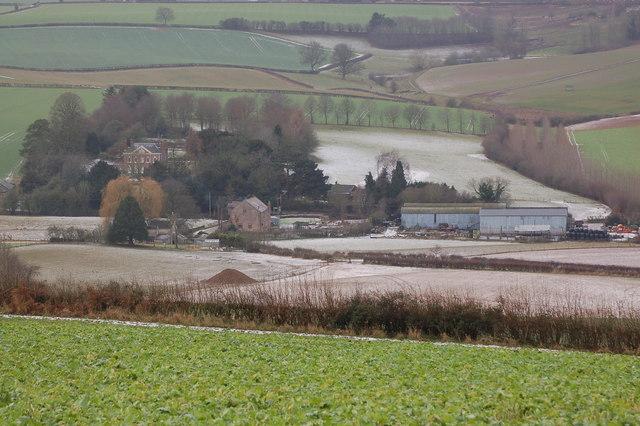 Burton Farm and Burton Mill from Linton Hill