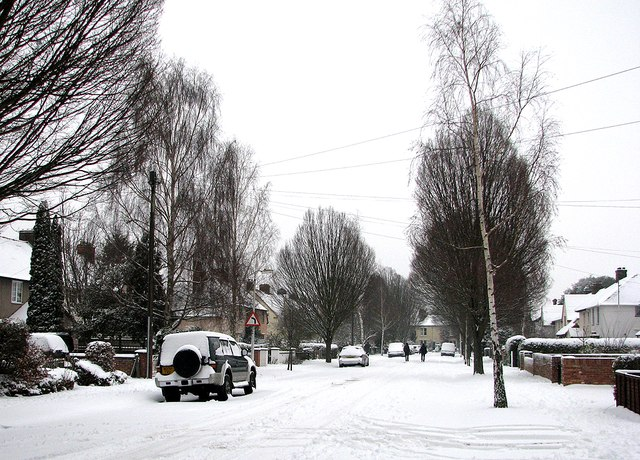 Snowy Sunday morning in Hills Avenue