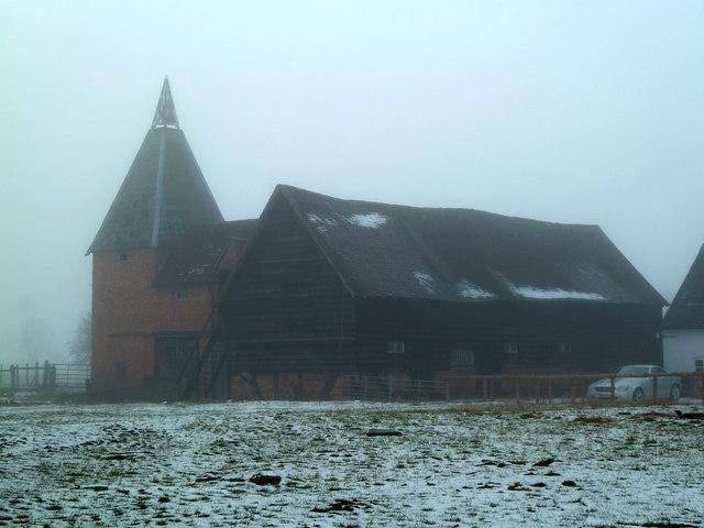 Old oast house, Church Farm, Whittington