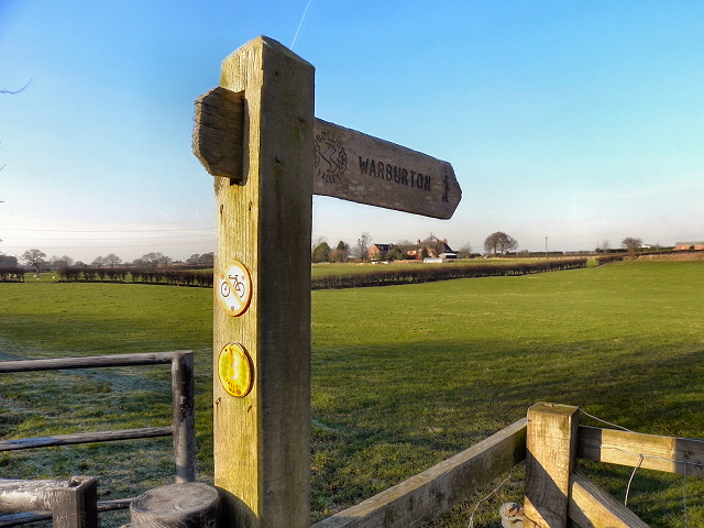 Signpost, Bollin Valley Way