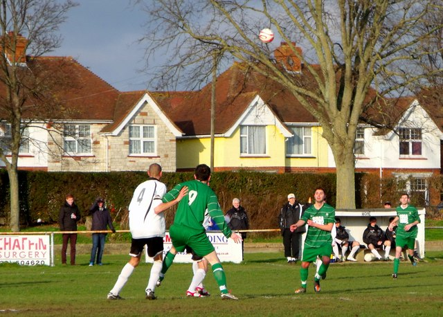 Football match at The Oval, home of Eastbourne United FC