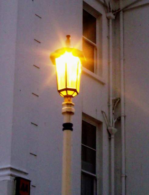 Yellow lamp, Eastbourne