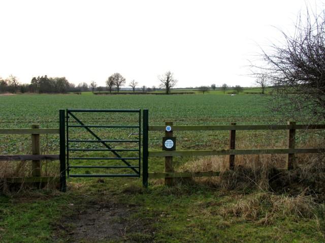 Footpath towards Ashley