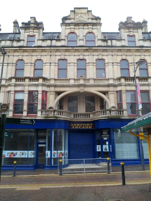 Grade II listed Newport Arcade, Newport