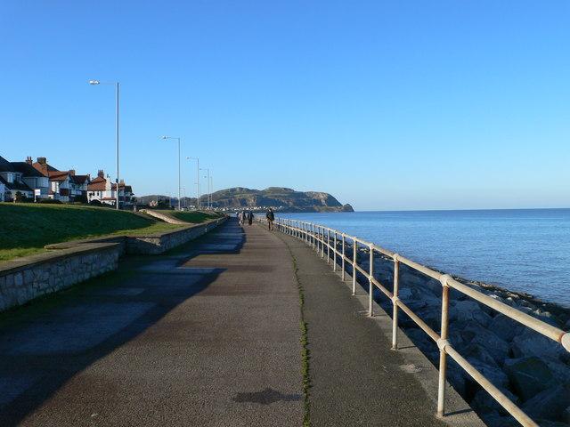 Coastal footpath, Rhos on Sea