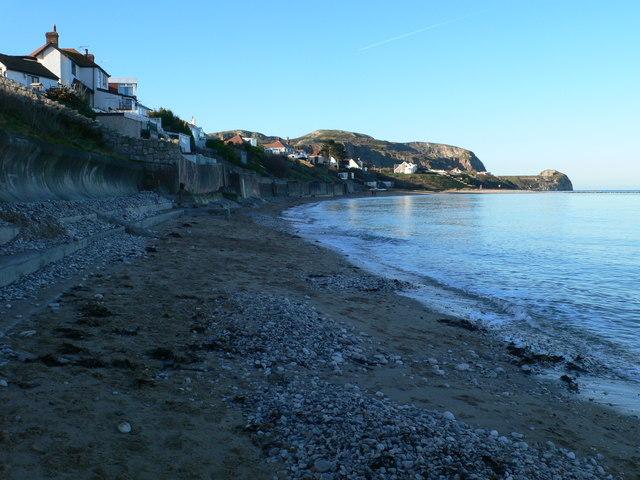 On the beach at Penrhyn Bay