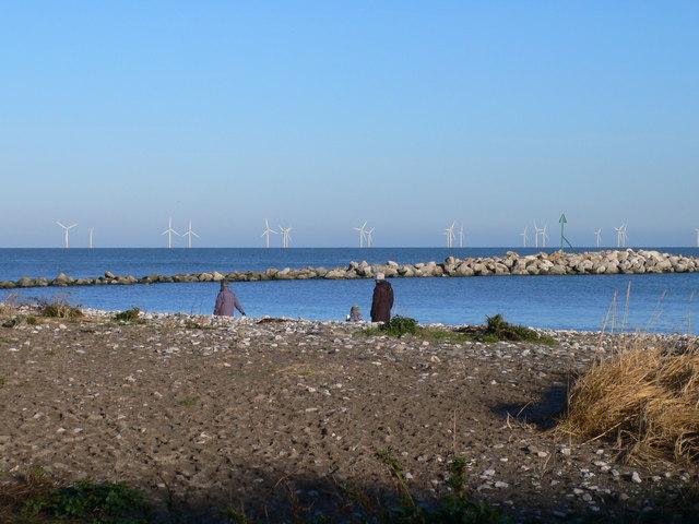 The beach at Penrhyn Bay