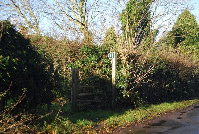 Footpath off Gallants Lane