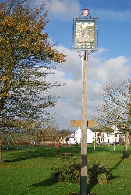 Village sign, West Farleigh