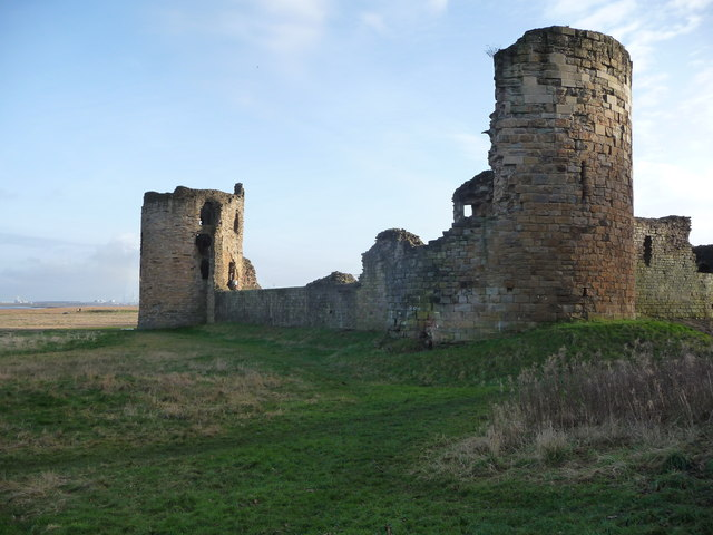 Two ruined towers at Flint Castle