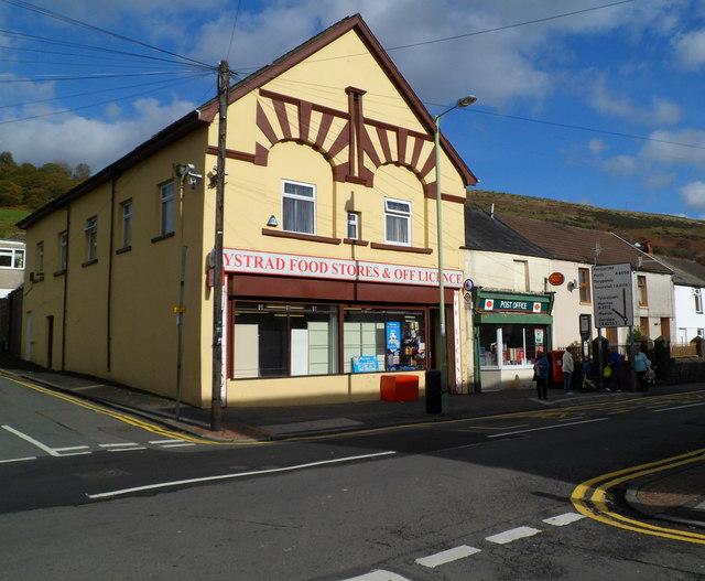 Corner shop and post office, Ystrad