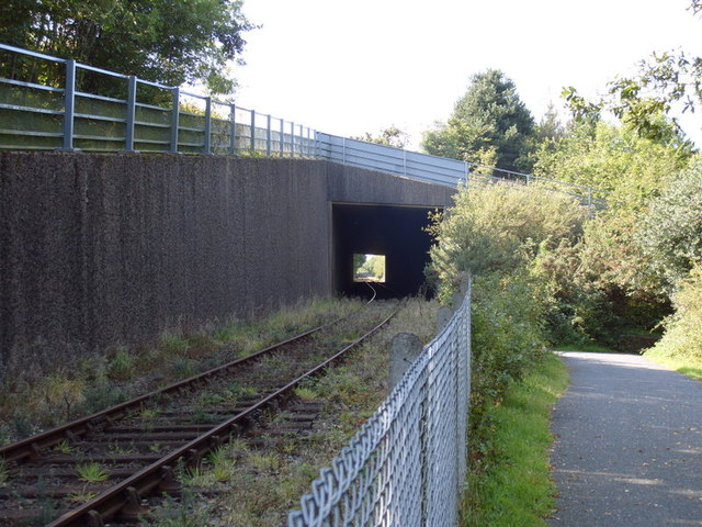 A30(T) Crosses Okehampton to Meldon Quarry railway line