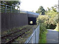 SX5793 : A30(T) Crosses Okehampton to Meldon Quarry railway line by Keith Kingdom