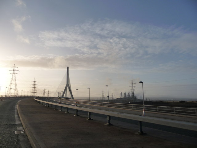 On the Flintshire Bridge over the River Dee