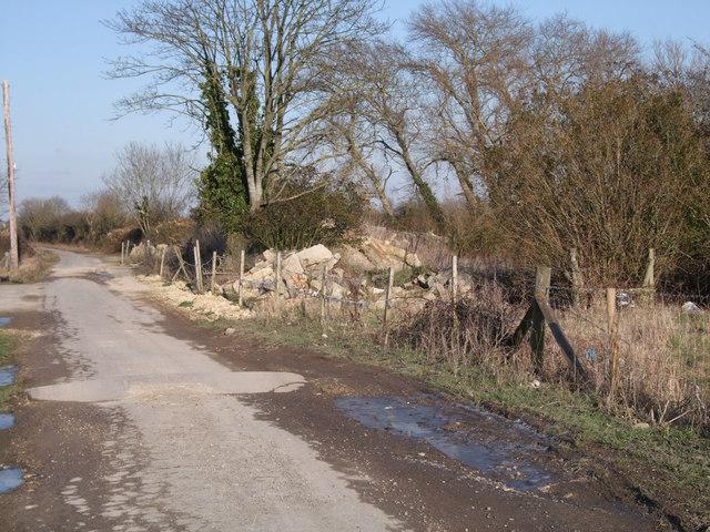 Demolished cottages, South Leaze