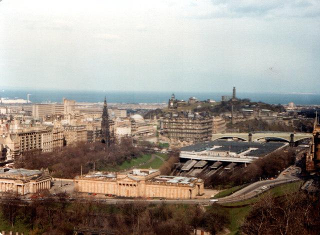 Waverley Station Edinburgh From The Castle 1983