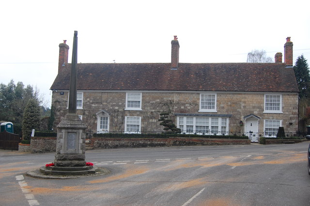 The Old Post Office, and War Memorial, Plaxtol