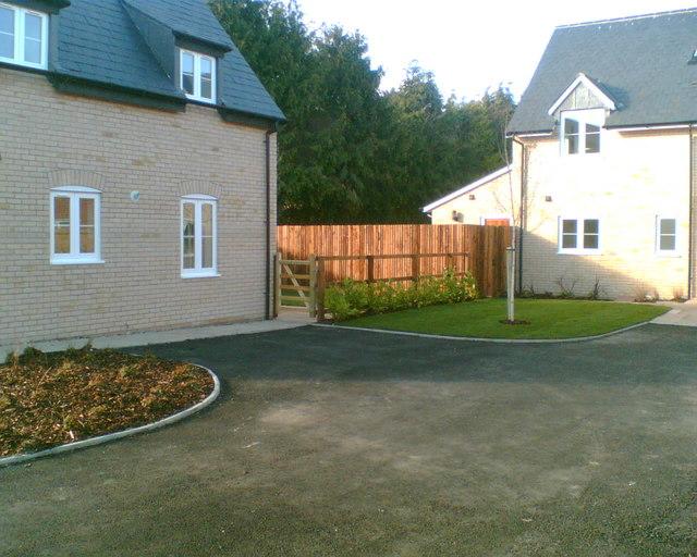 New houses, Mortimers Lane, Foxton