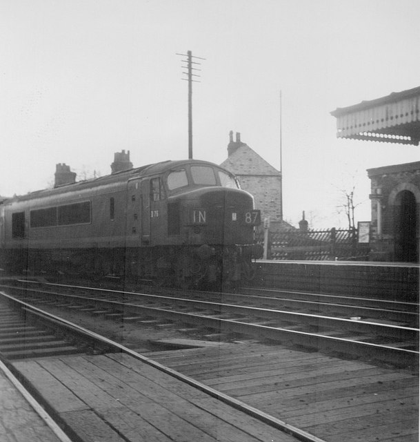 Blackwell Station With D76 at Top of Lickey Incline 1960