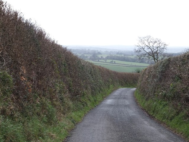 Rixafer Road and farmland beyond