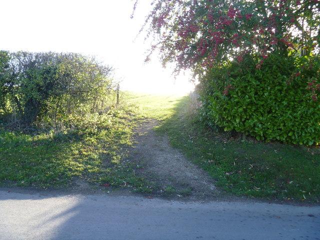 Footpath leaves the road