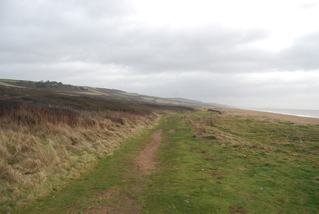 South West Coast Path behind Cogden Beach