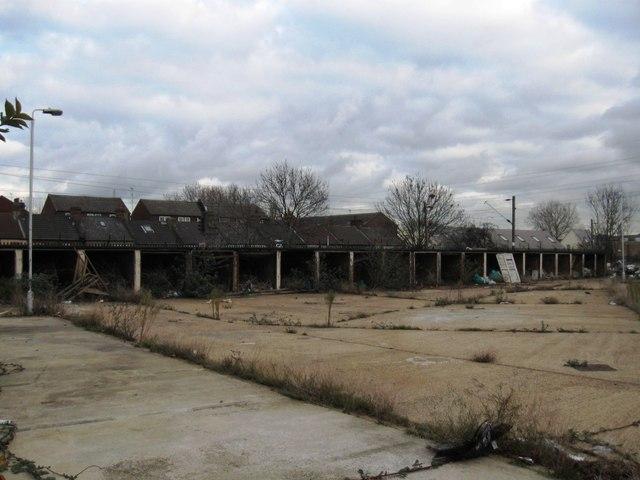 Derelict garages