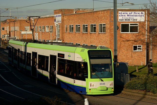 Tram at Reeves Corner, Croydon